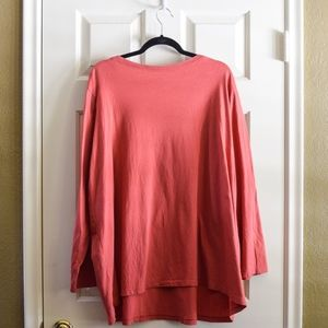 Roaman's Tops - Roaman's Salmon Long Sleeved Tee